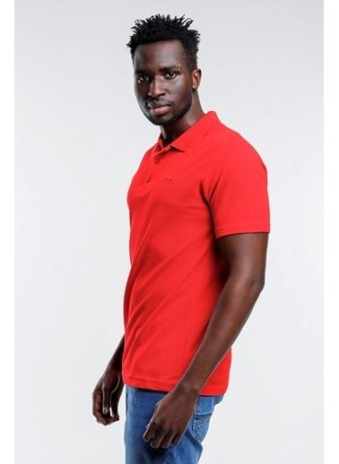 Slazenger Slazenger SOHO Erkek T-Shirt Hardal Kırmızı
